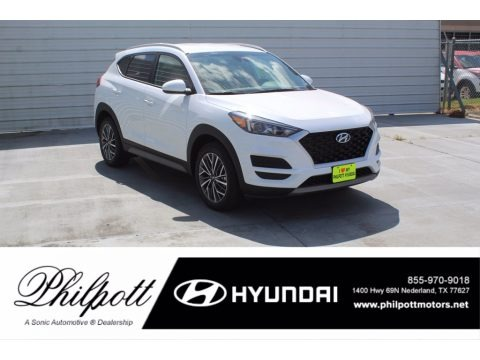 White Cream 2021 Hyundai Tucson SEL