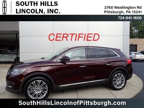 Burgundy Velvet Metallic 2018 Lincoln MKX Reserve AWD