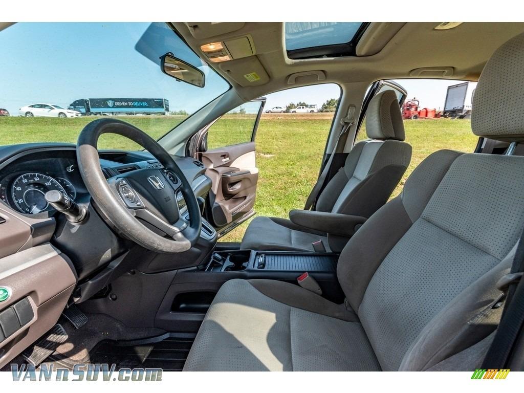 2013 CR-V EX AWD - Urban Titanium Metallic / Beige photo #18
