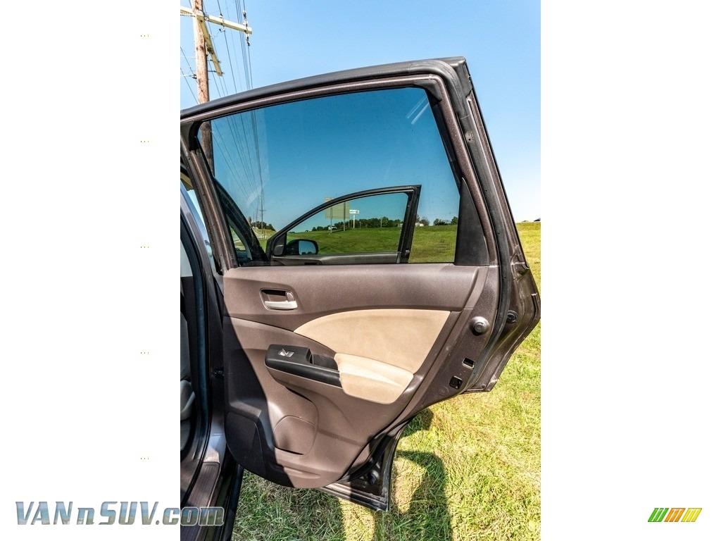 2013 CR-V EX AWD - Urban Titanium Metallic / Beige photo #26