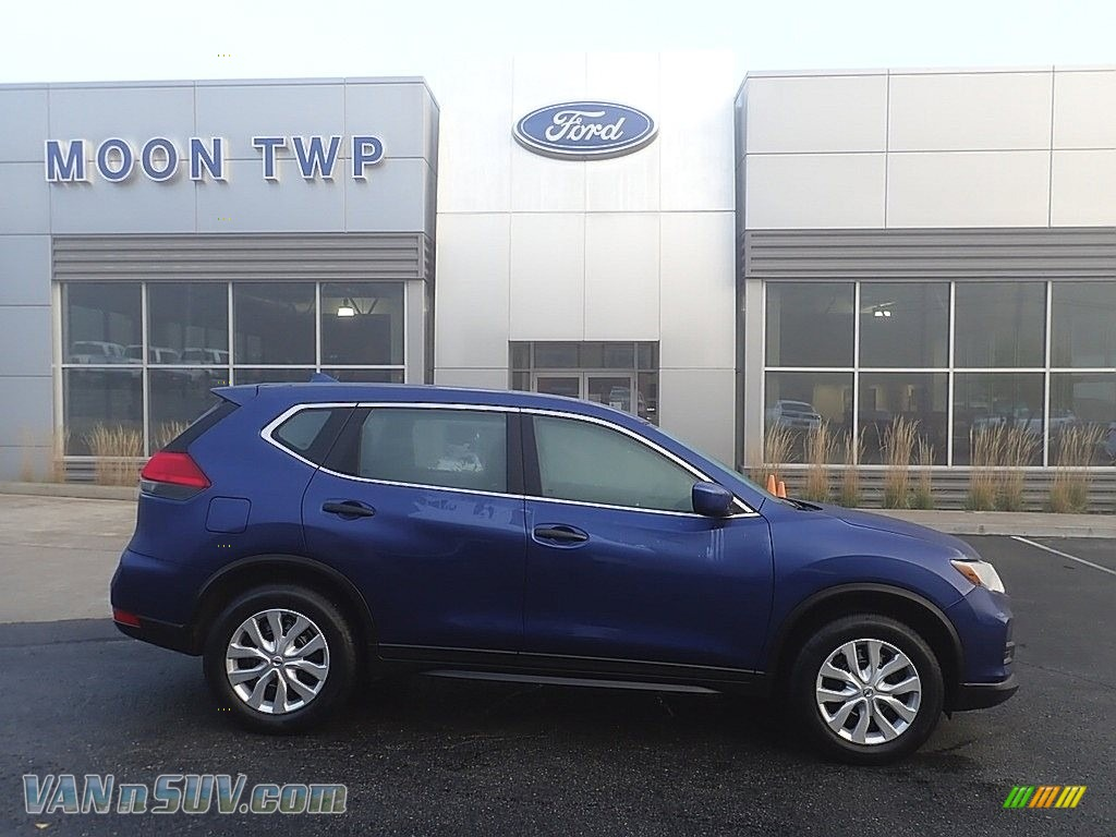 2017 Rogue S AWD - Caspian Blue / Charcoal photo #1