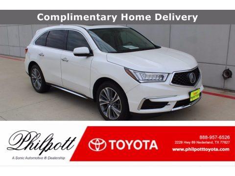 White Diamond Pearl 2017 Acura MDX Technology SH-AWD