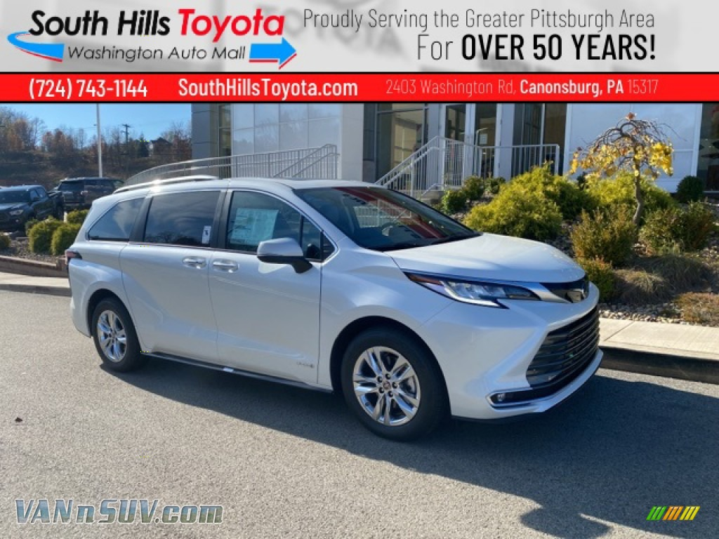 2021 Sienna Limited AWD - Blizzard White Pearl / Gray photo #1