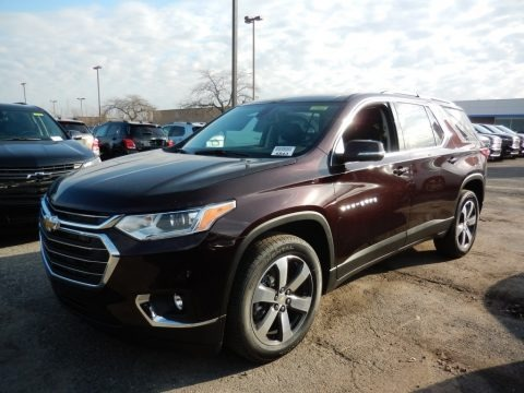 Black Cherry Metallic 2021 Chevrolet Traverse LT