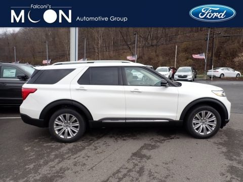 Oxford White 2021 Ford Explorer Limited 4WD