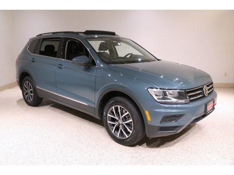 Blue Silk Metallic 2020 Volkswagen Tiguan SE 4MOTION