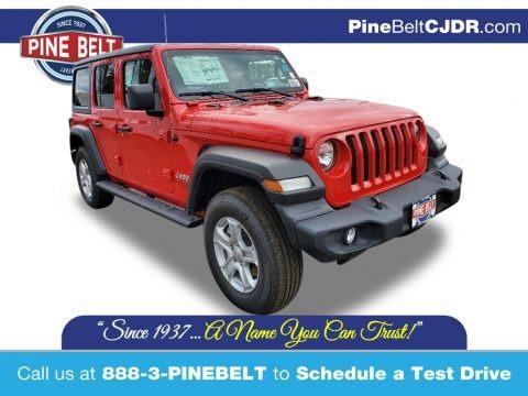 Firecracker Red 2021 Jeep Wrangler Unlimited Sport 4x4