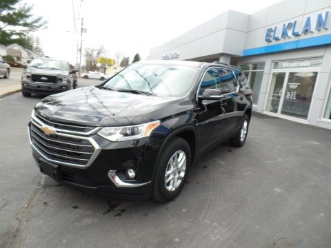 Mosaic Black Metallic 2021 Chevrolet Traverse LT AWD