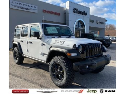 Bright White 2021 Jeep Wrangler Unlimited Willys 4x4