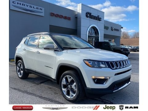 Pearl White Tri–Coat 2021 Jeep Compass Limited 4x4