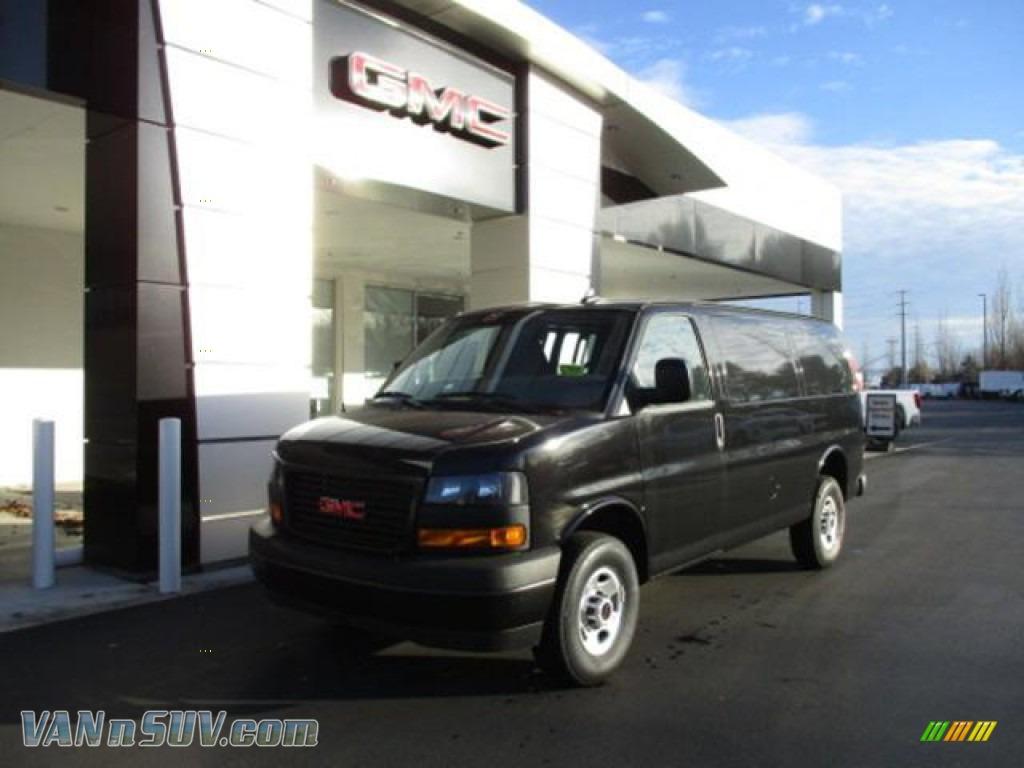 2020 Savana Van 3500 Cargo - Onyx Black / Medium Pewter photo #1