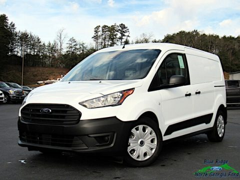 Frozen White 2021 Ford Transit Connect XL Van