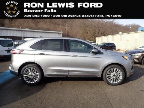 Iconic Silver Metallic 2020 Ford Edge Titanium AWD