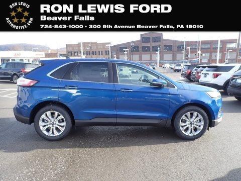 Atlas Blue Metallic 2020 Ford Edge Titanium AWD
