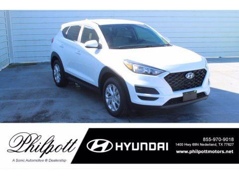 White Cream 2021 Hyundai Tucson SE