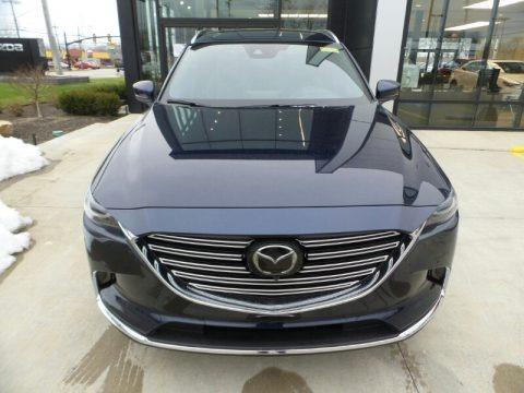 Deep Crystal Blue Mica 2021 Mazda CX-9 Grand Touring AWD
