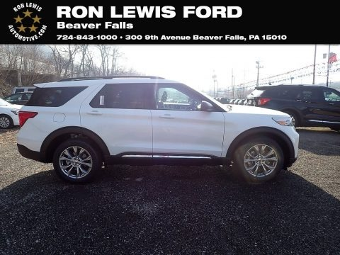 Star White Metallic Tri-Coat 2021 Ford Explorer XLT 4WD