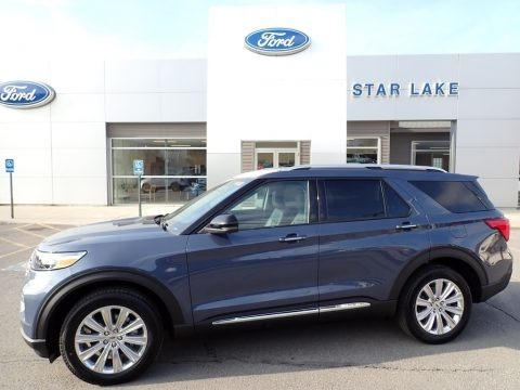 Infinite Blue Metallic 2021 Ford Explorer Limited