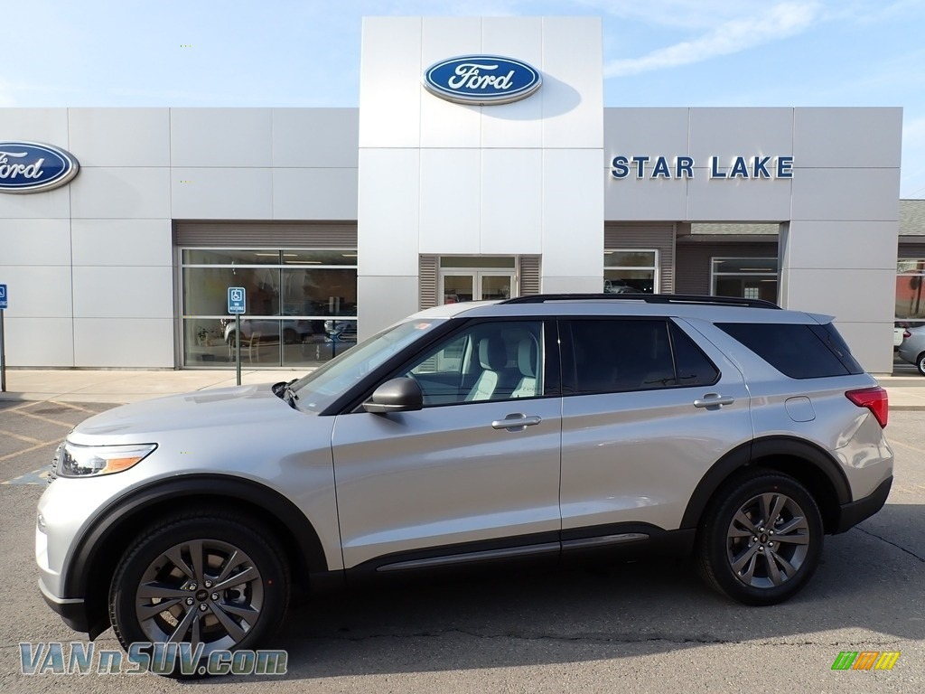 2021 Explorer XLT 4WD - Iconic Silver Metallic / Light Slate photo #1