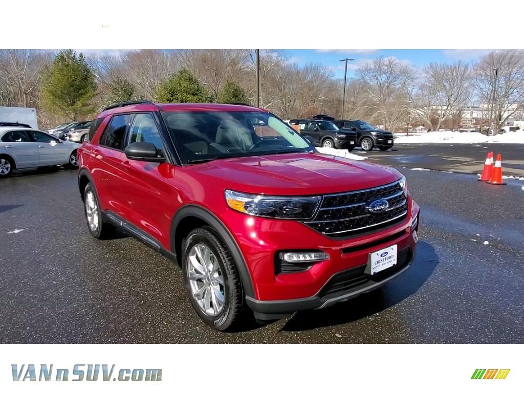 2021 Explorer XLT 4WD - Rapid Red Metallic / Sandstone photo #1