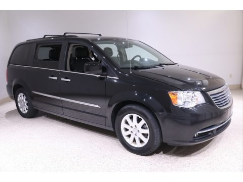 Brilliant Black Crystal Pearl 2015 Chrysler Town & Country Touring