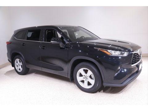 Midnight Black Metallic 2020 Toyota Highlander LE AWD