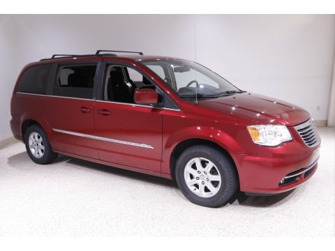 Deep Cherry Red Crystal Pearl 2012 Chrysler Town & Country Touring