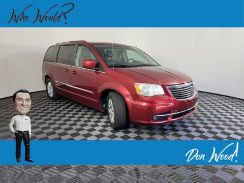 Deep Cherry Red Crystal Pearl 2014 Chrysler Town & Country Touring