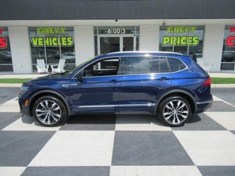 Atlantic Blue Metallic 2021 Volkswagen Tiguan SEL Premium R-Line 4Motion