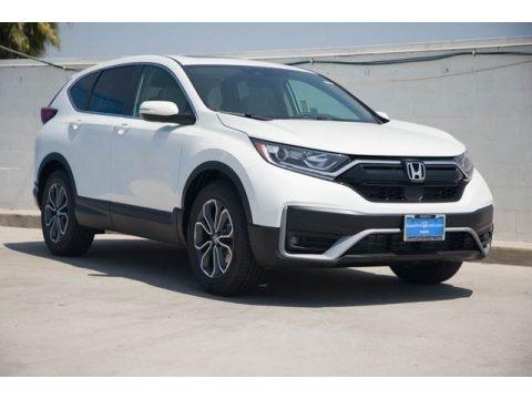 Platinum White Pearl 2021 Honda CR-V EX-L