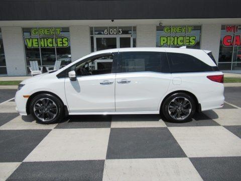 Platinum White Pearl 2021 Honda Odyssey Elite
