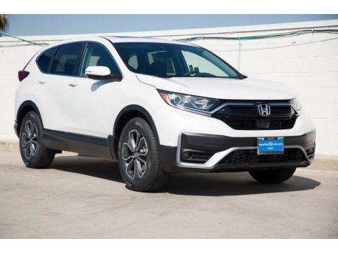 Platinum White Pearl 2021 Honda CR-V EX-L AWD