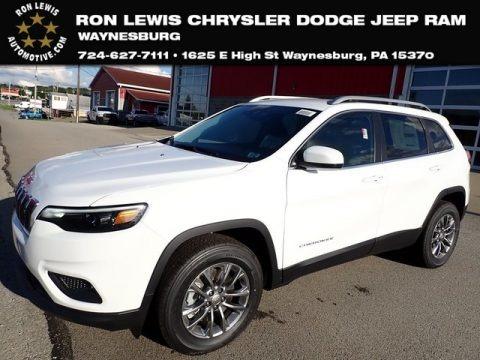 Bright White 2021 Jeep Cherokee Latitude Lux 4x4