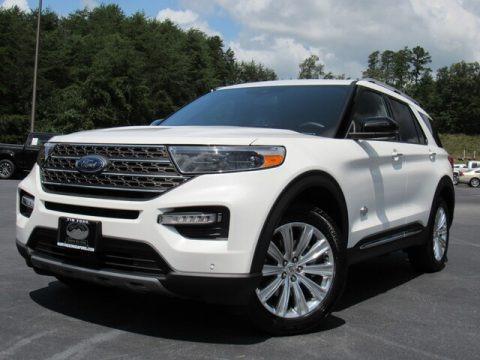 Star White Metallic Tri-Coat 2021 Ford Explorer King Ranch 4WD