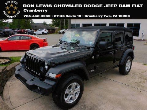 Black 2021 Jeep Wrangler Unlimited Sport 4x4
