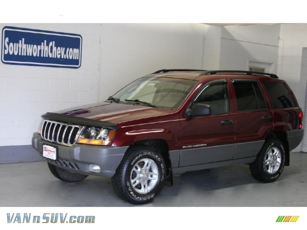 2002 Jeep Grand Cherokee Laredo 4x4 In Dark Garnet Red