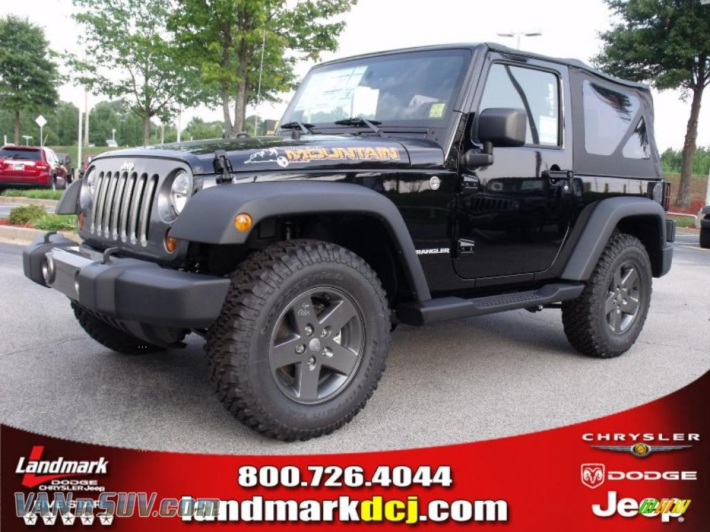 2010 Jeep Wrangler Sport Mountain Edition 4x4 in Black - 229274 | VANnSUV.com - Vans and SUVs ...