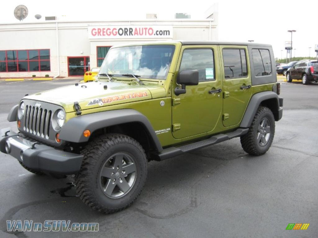 2010 Jeep Wrangler Unlimited Mountain Edition 4x4 In Rescue Green