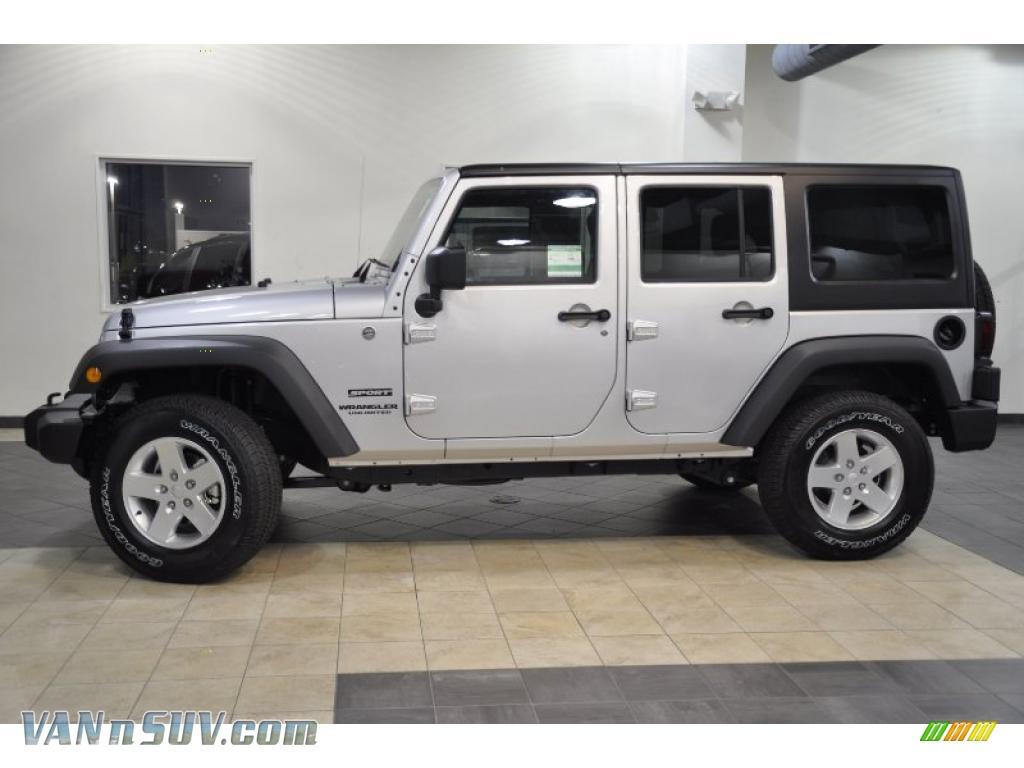 2011 jeep wrangler unlimited sport 4x4 in bright silver metallic