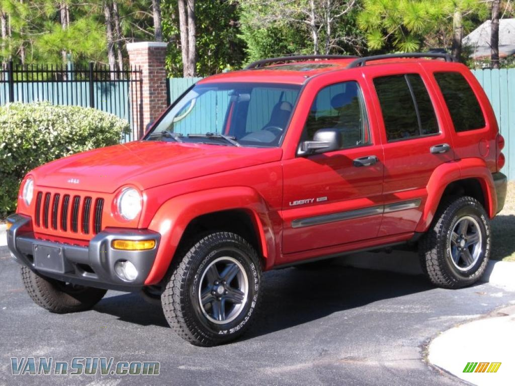 2004 jeep liberty sport 4x4 columbia edition in flame red. Black Bedroom Furniture Sets. Home Design Ideas