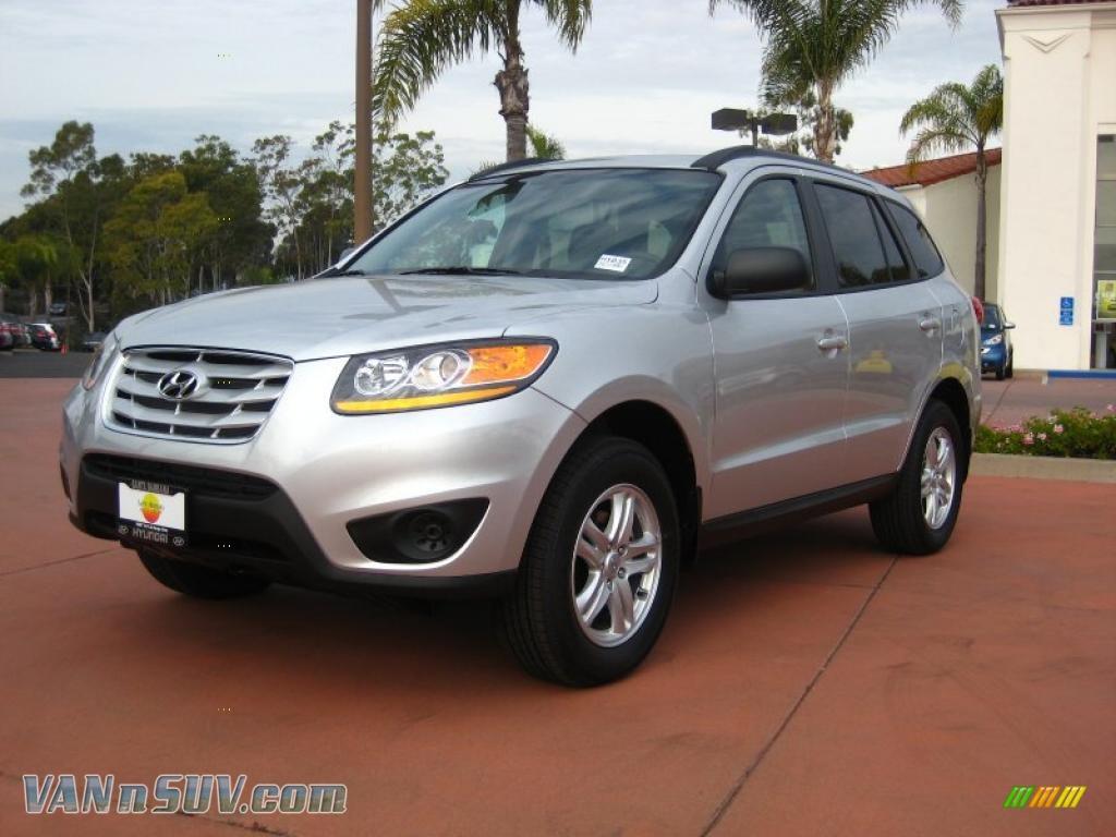2011 Hyundai Santa Fe Gls Awd In Moonstone Silver 013437