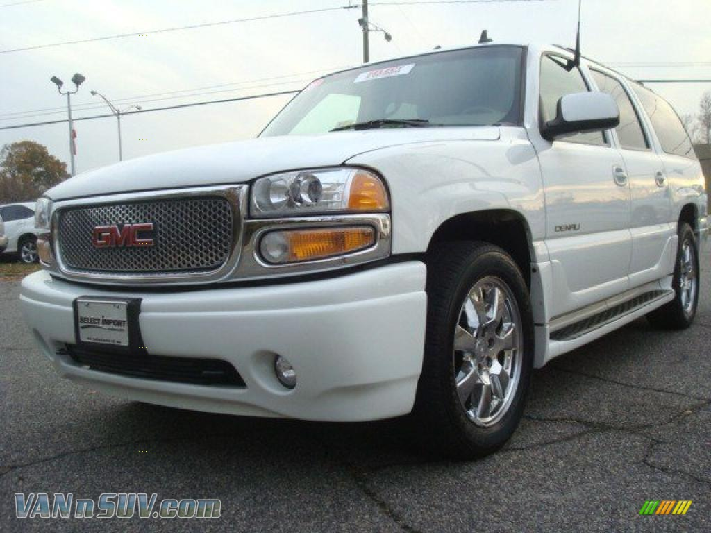 2006 gmc yukon xl denali awd in summit white 104368 vans and suvs for sale in. Black Bedroom Furniture Sets. Home Design Ideas
