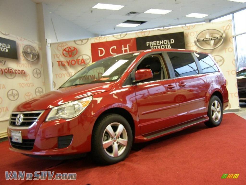 2009 Volkswagen Routan SEL in Pomegranate Red Metallic - 541348 | VANnSUV.com - Vans and SUVs ...