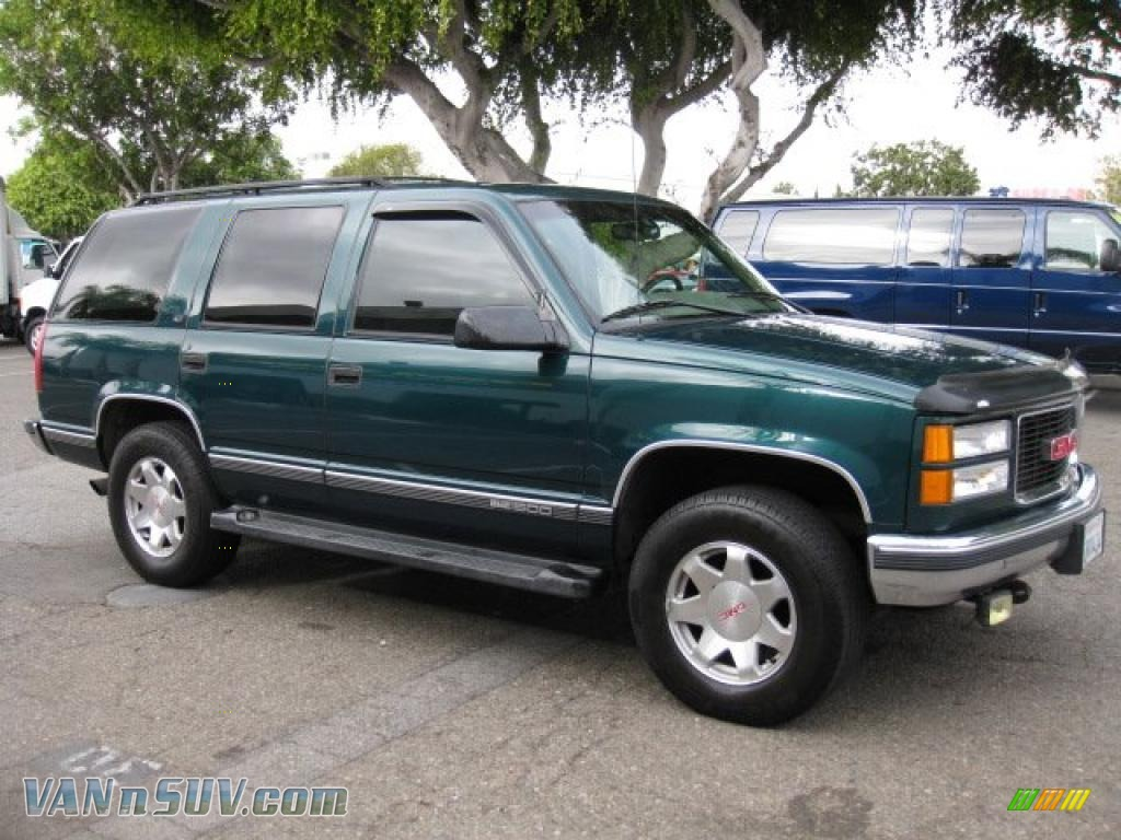 4 Wheel Drive Vans >> 1996 GMC Yukon SLT 4x4 in Emerald Green Metallic - 735543   VANnSUV.com - Vans and SUVs for sale ...