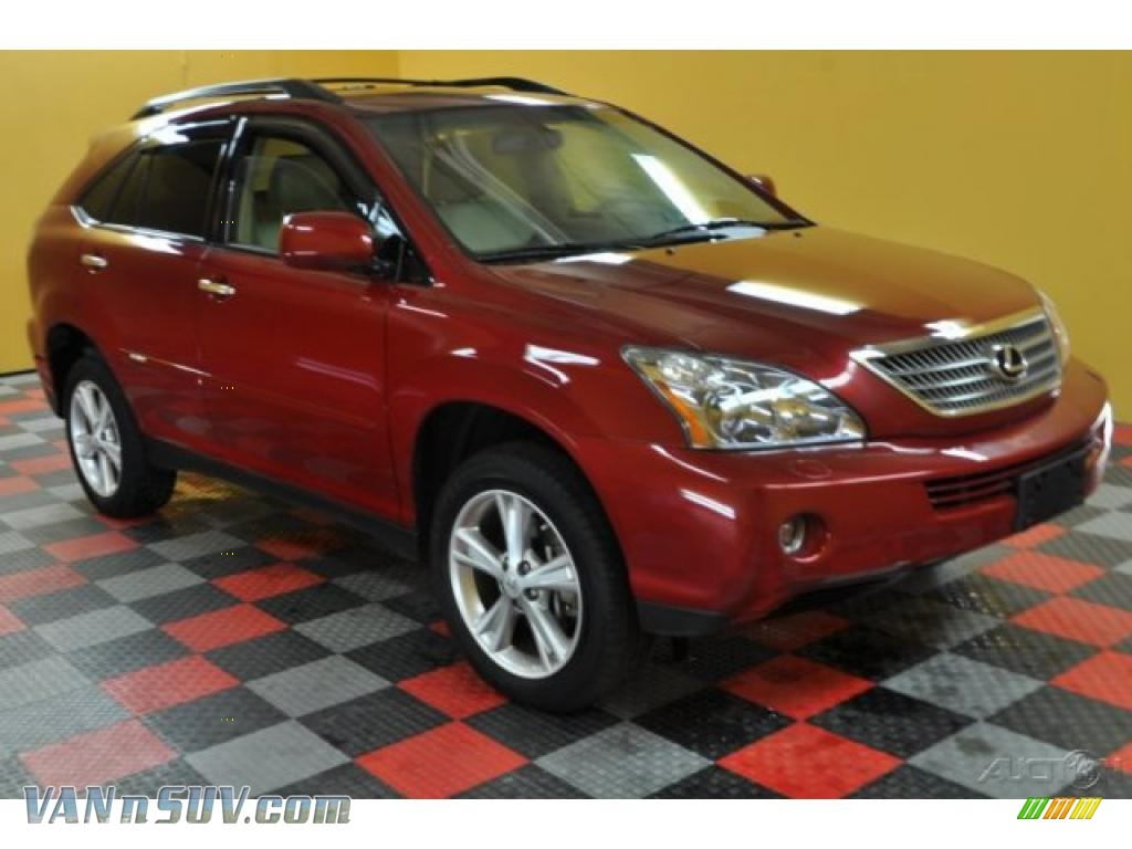 2008 lexus rx 400h awd hybrid in matador red mica 048710. Black Bedroom Furniture Sets. Home Design Ideas