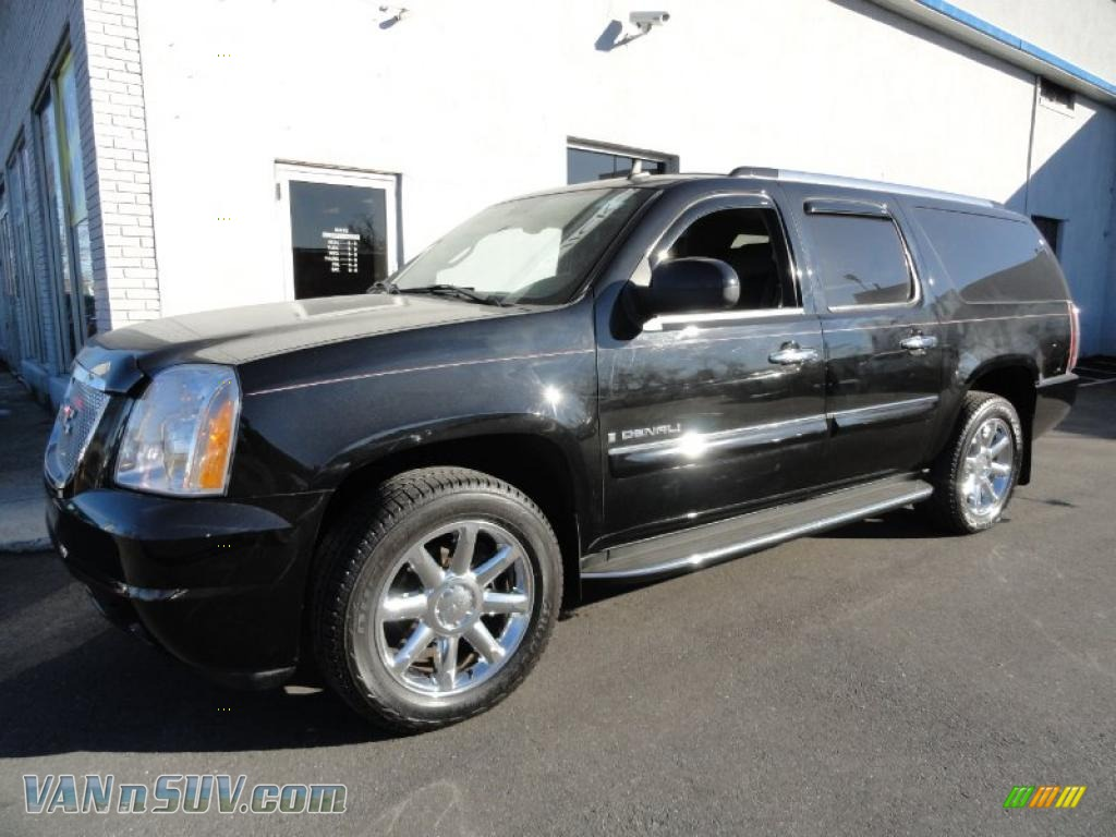 2007 gmc yukon xl denali awd in onyx black 302619 vans and suvs for sale in the us. Black Bedroom Furniture Sets. Home Design Ideas