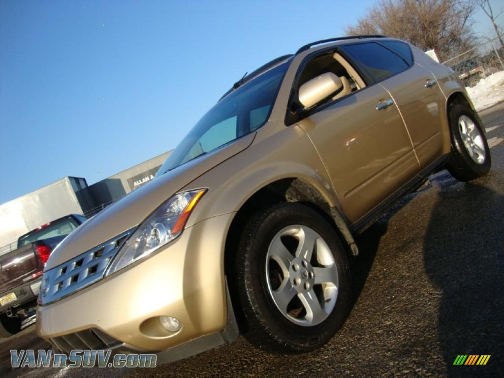 2004 nissan murano sl awd in luminous gold metallic - 313795