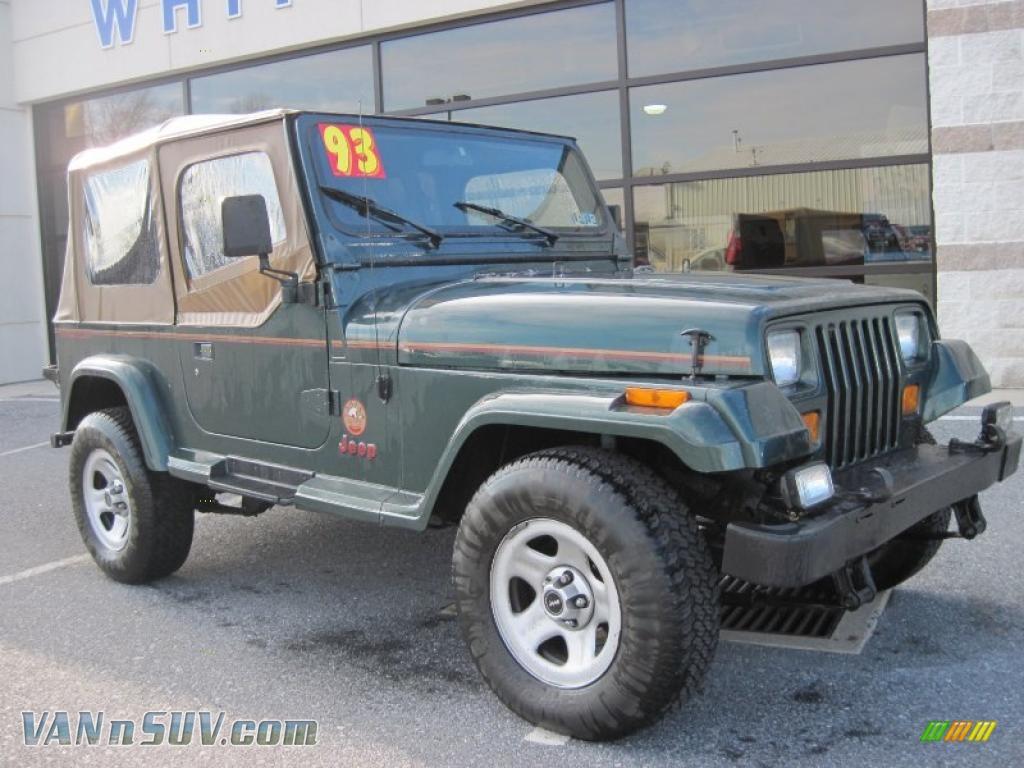 1993 Jeep Wrangler Sahara 4x4 In Hunter Green Metallic