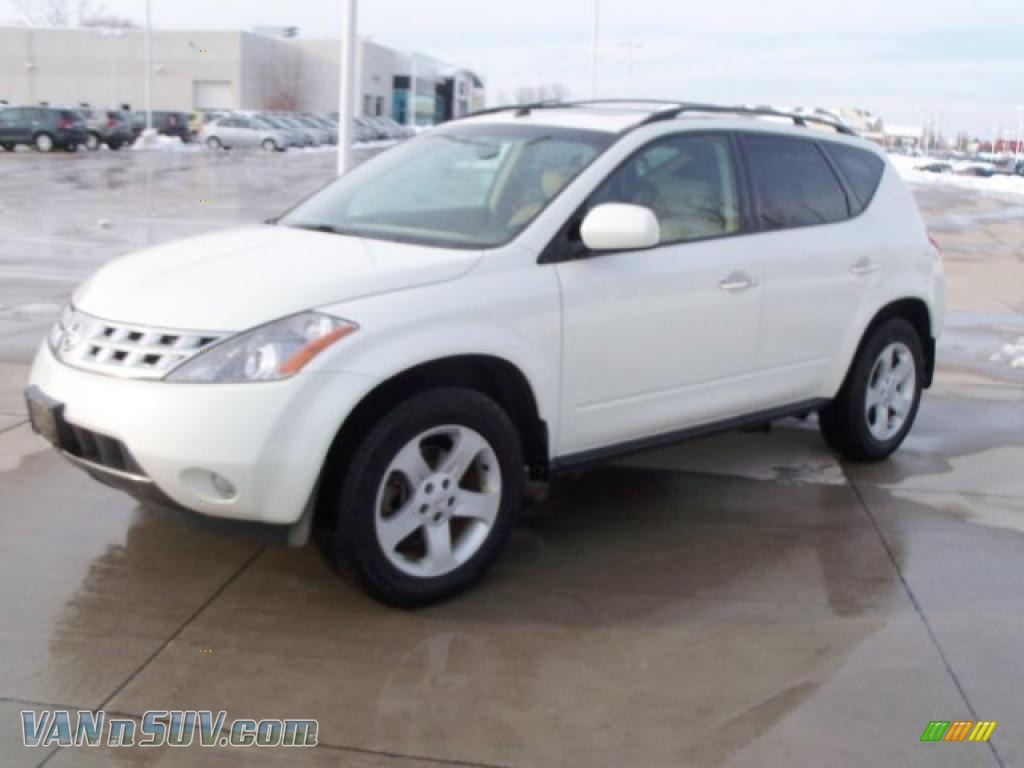 2005 nissan murano sl awd in glacier pearl white 412730 vans and suvs for sale. Black Bedroom Furniture Sets. Home Design Ideas