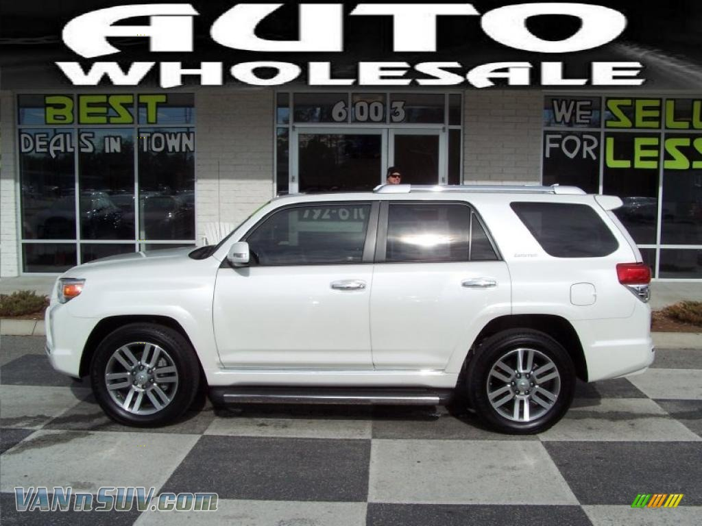 2010 Toyota 4runner Limited In Blizzard White Pearl